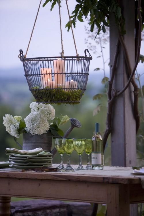 Wat zet je op je tuintafel?