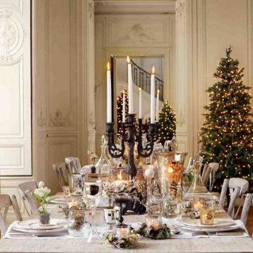 Tafeldekken met kerst