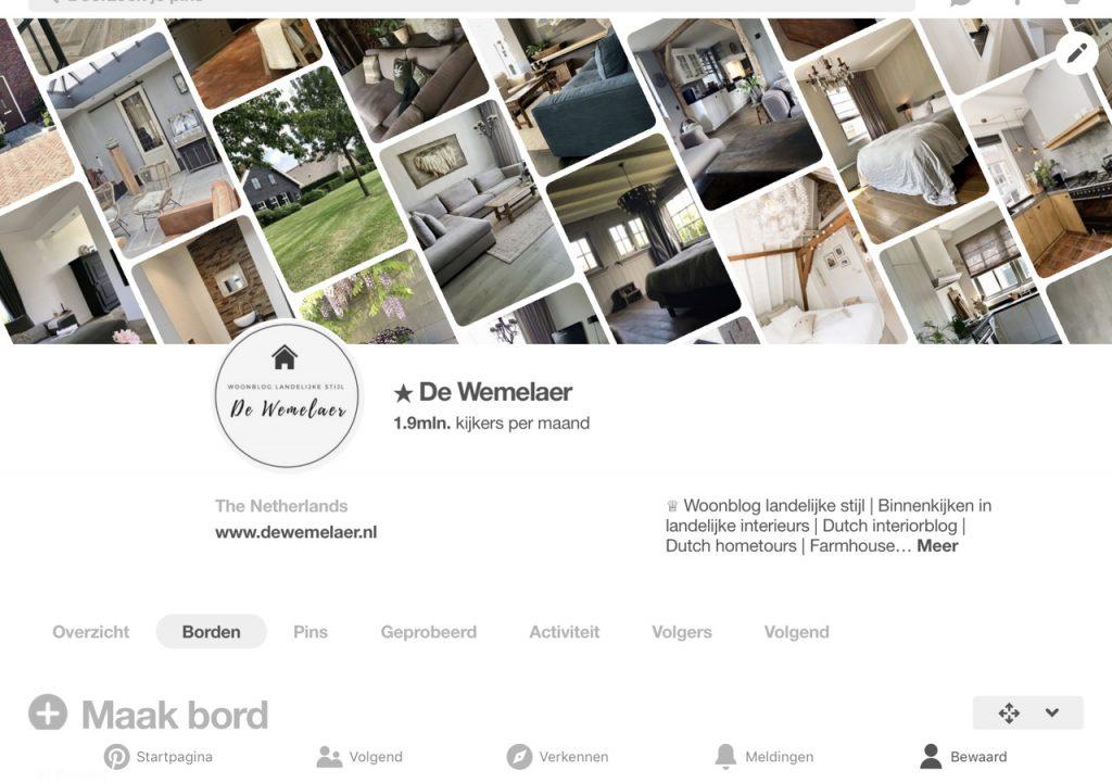 De Wemelaer is ook te vinden op Pinterest