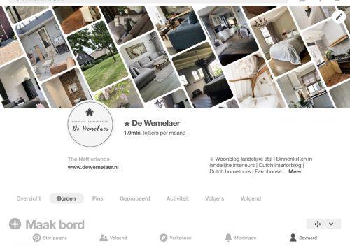 Woonblog landelijke stijl op Pinterest