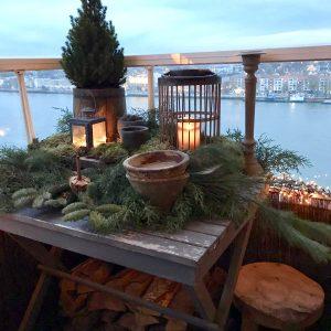 balkon kerstversiering landelijk